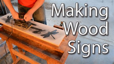 How To Make Wooden Signs Using A Router