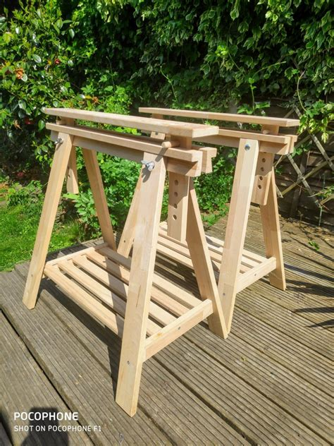 How To Make Wooden Trestle Legs Ikea