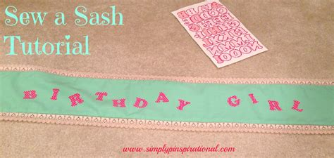 How To Make Your Own Sash