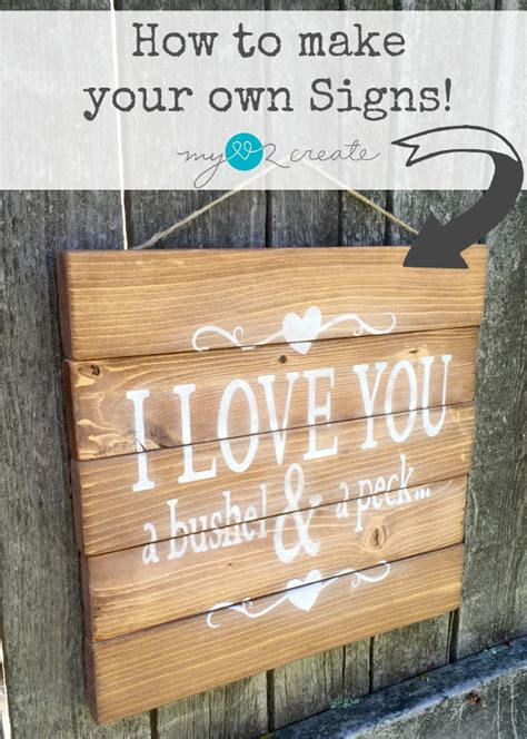 How To Make Your Own Wood Wedding Signs