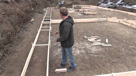 How To Mark Out Footings For Houses
