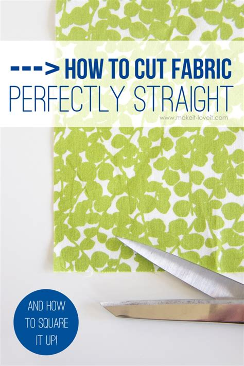 How To Measure A Straight Line On Fabric