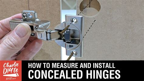 How To Measure And Install Hidden Cabinet Hinges