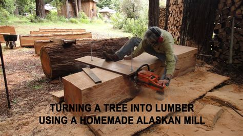 How To Mill A Log Into Lumber By Hand