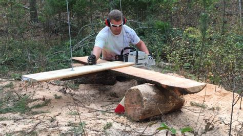 How To Mill Lumber With A Chainsaw