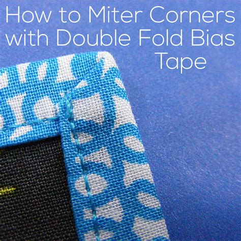 How To Miter Corners With Bias Tape
