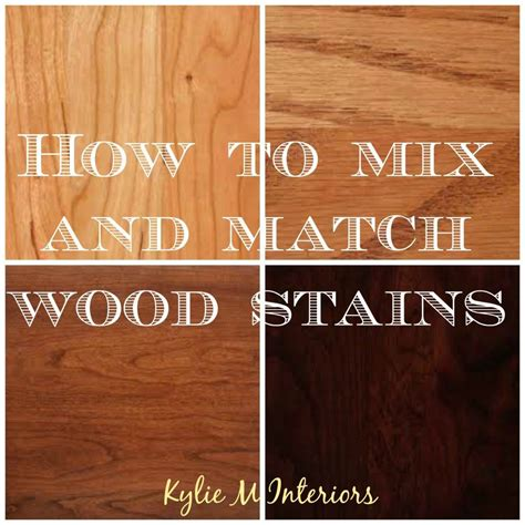 How To Mix And Match Wood Stains