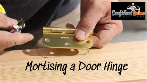 How To Mortise A Door Youtube