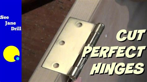 How To Mortise Door Hinges With Router