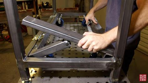 How To Mount Casters Welding Table