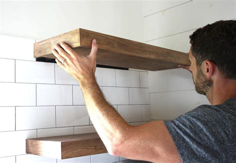 How To Mount Diy Floating Shelves