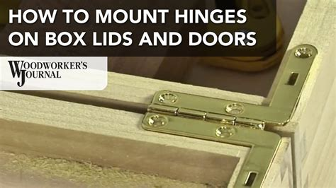 How To Mount Hinges On A Lid