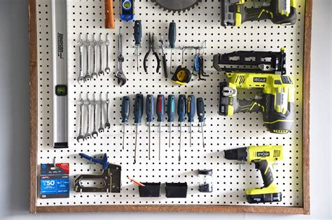 How To Organize A Workshop Pegboard