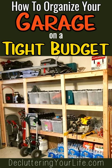 How To Organize Your Garage Cheap