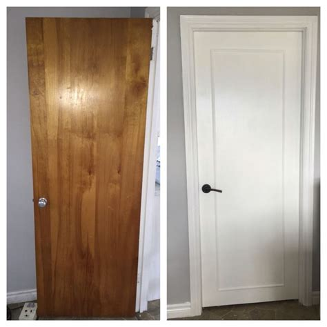 How To Paint A Wooden Door White