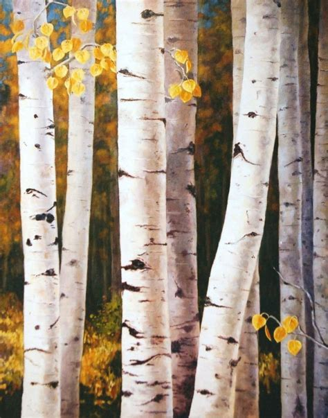 How To Paint Aspen Trees