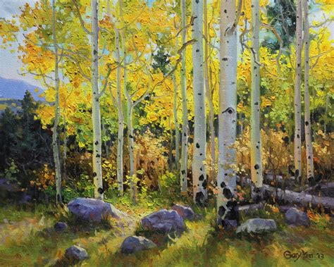 How To Paint Aspen Trees In Snow