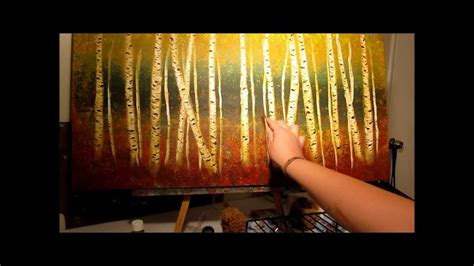 How To Paint Aspen Trees Step By Step
