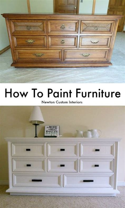 How To Paint Finished Wood Furniture