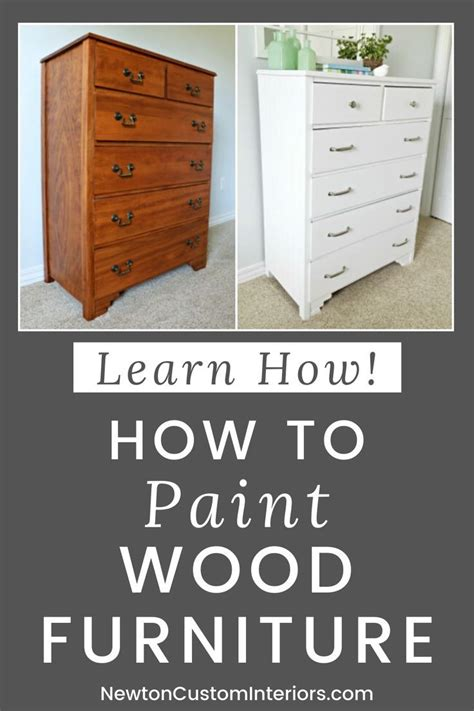 How To Paint Furniture Woodworking