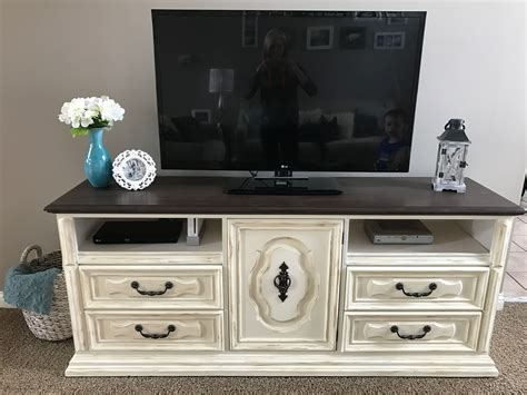 How To Paint Natural Tv Stand Diy