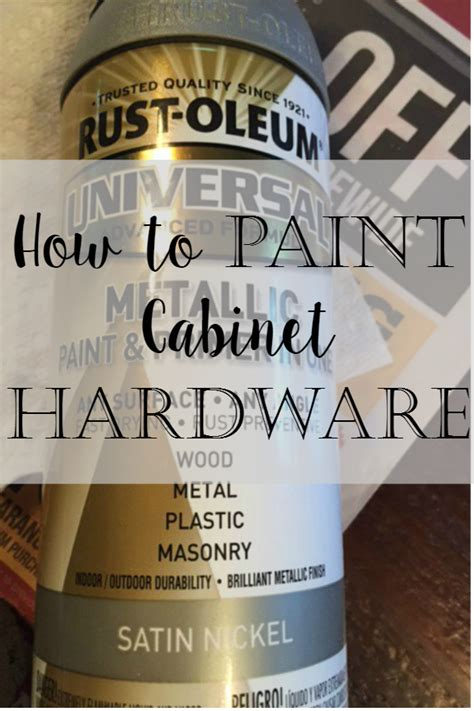How To Paint Polished Cabinet Handles