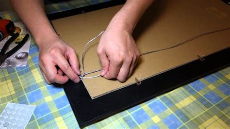 How To Picture Frame Wire