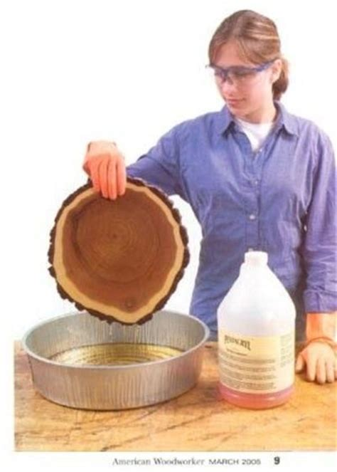 How To Preserve Tree Trunk Slices For Crafts
