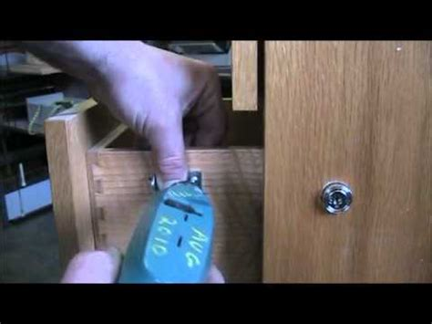How To Put A Lock On A Wooden Drawer
