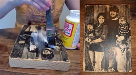 How To Put A Picture On A Block Of Wood