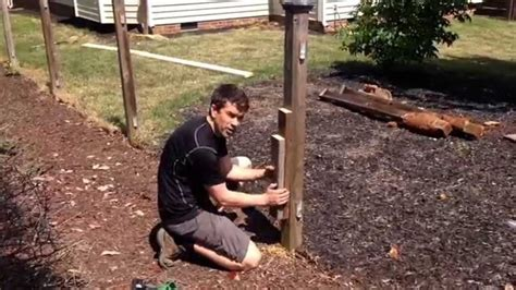 How To Put Up A Fence Without Digging Holes