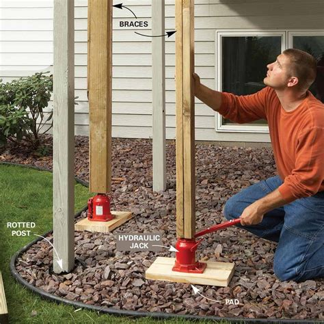 How To Raise A Deck Post A Few Inches