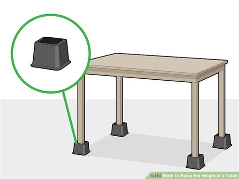 How To Raise A Table 2 Inches Wheels