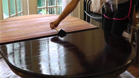 How To Refinish A Table Top With Polyurethane