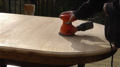 How To Refinish A Table Top Youtube