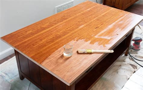 How To Refinish A Wood Coffee Table