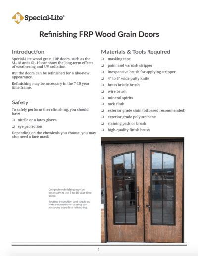 How To Refinish A Wood Grain Fiberglass Door