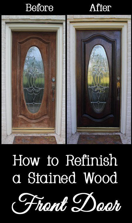 How To Refinish Stained Wood Door Frames