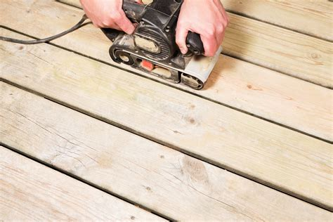 How To Refinish Wood Decking By Heavy Sanding