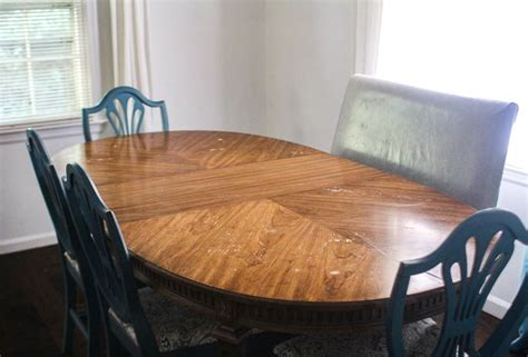 How To Refinish Wood Dining Room Table Top