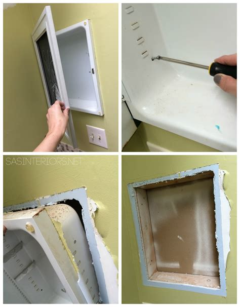 How To Remove Bathroom Wall Cabinet
