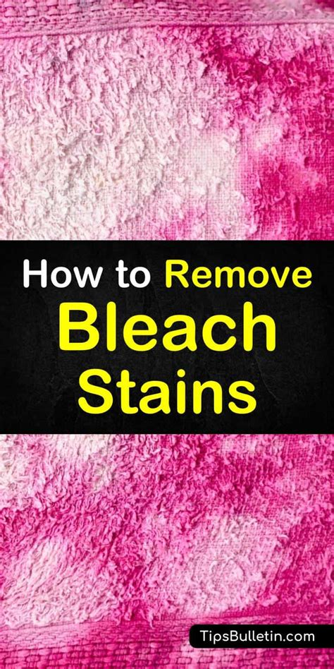 How To Remove Bleach Spots