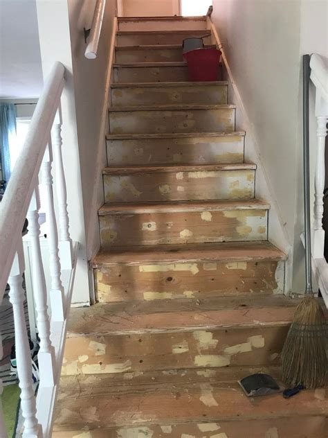 How To Remove Carpet On Stairs And Stain Steps
