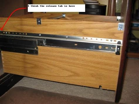 How To Remove Desk Drawers From A Hon Desk