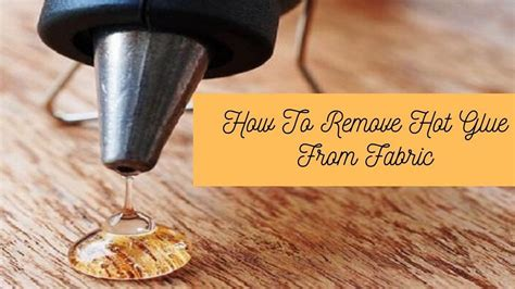 How To Remove Dried Glue