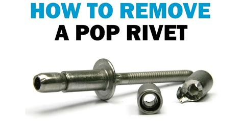 How To Remove Pop Rivets Without A Drill