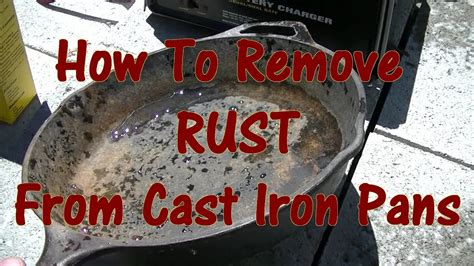How To Remove Rust From Cast Iron Table