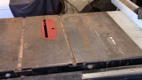 How To Remove Rust From Cast Iron Table Saw Top