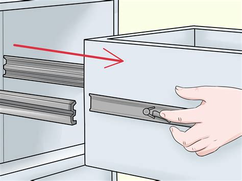 How To Remove Sliding Drawers From Tracks