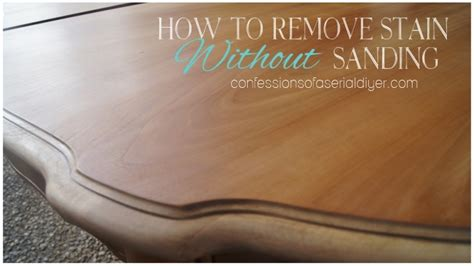 How To Remove Stain From Wood Without Sanding